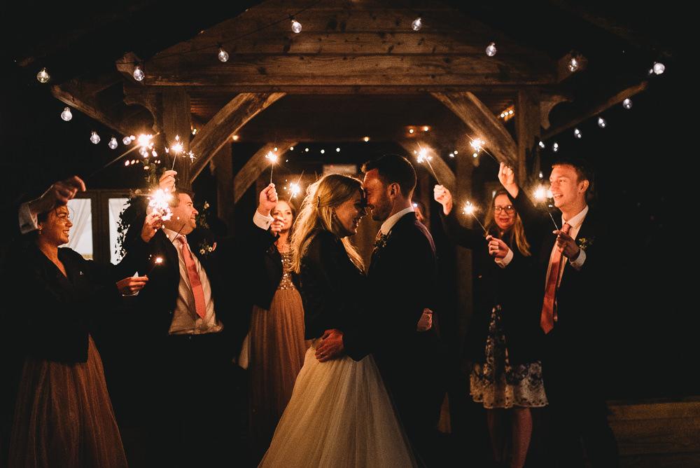 Sparklers Sparkler Send Off Exit Maidens Barn Wedding Sophie Oldhamstead Photography