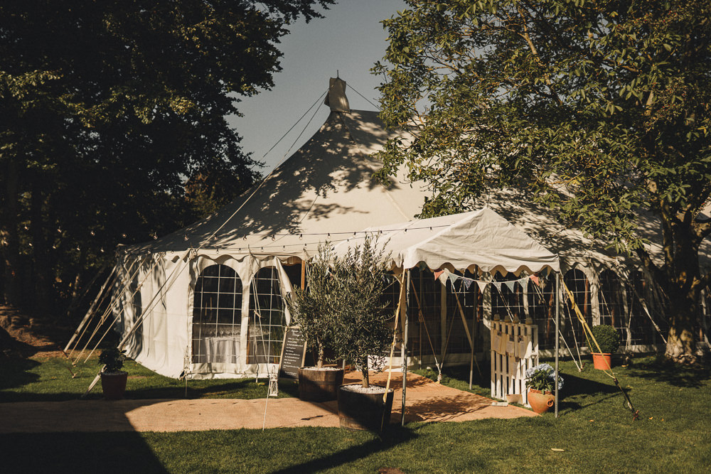 Bunting Back Garden Marquee Wedding Home The Chamberlins