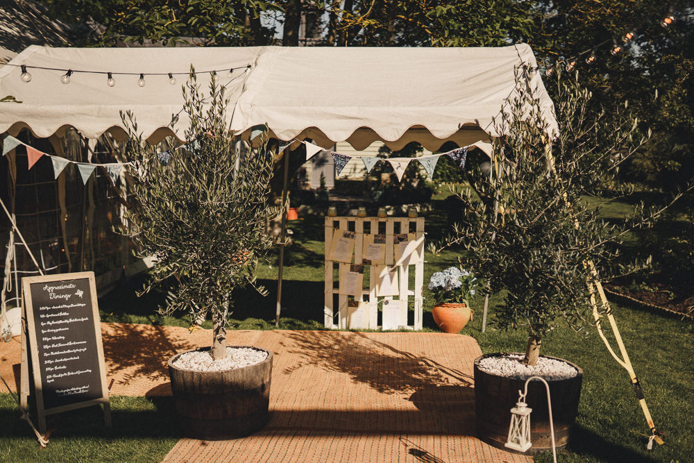 Tree Lined Entrance Bunting Decor Marquee Wedding Home The Chamberlins