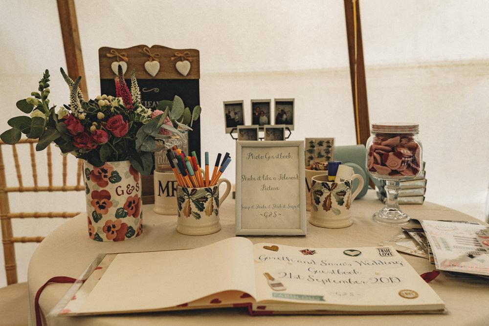 Guest Book Emma Bridgewater Mug Flowers Marquee Wedding Home The Chamberlins