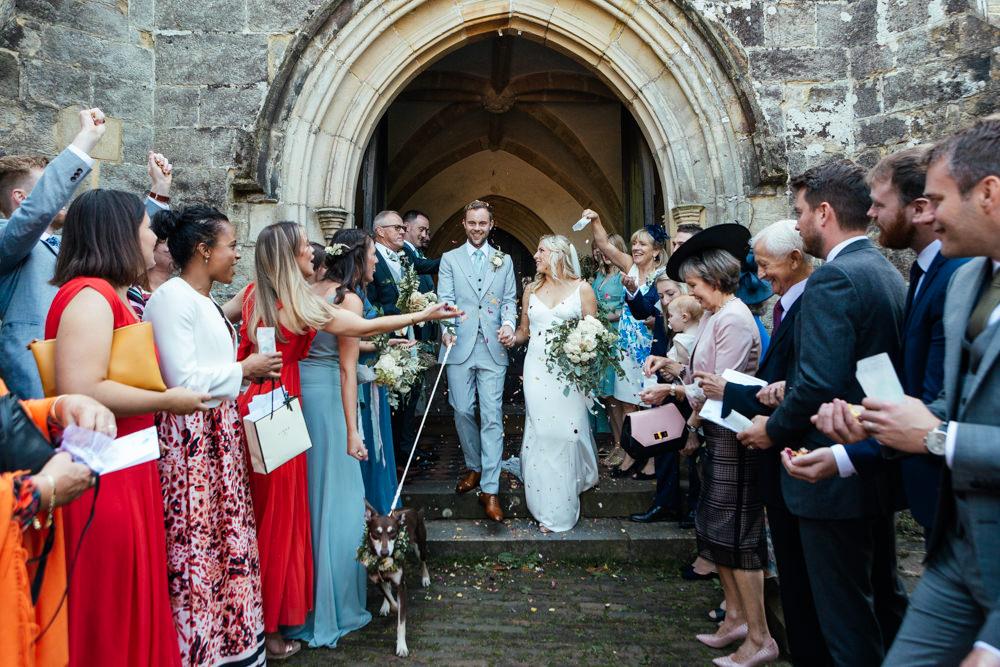 Confetti Throw Oak Barn Wedding Matilda Delves Photography