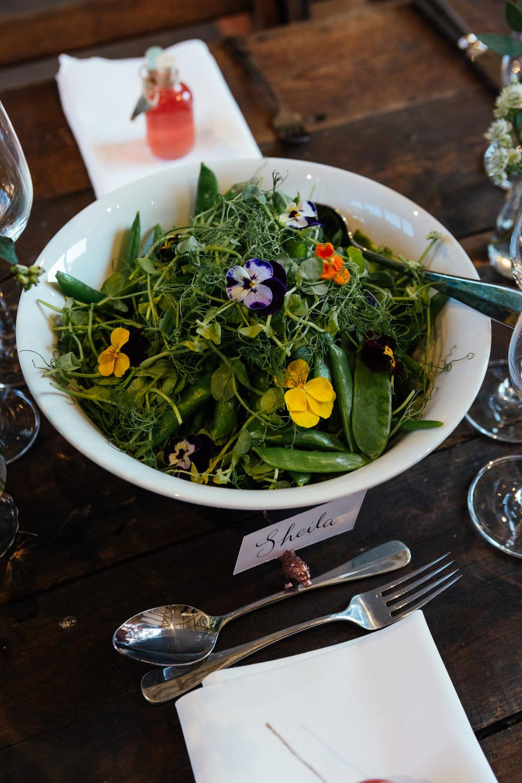 Salad Flowers Oak Barn Wedding Matilda Delves Photography