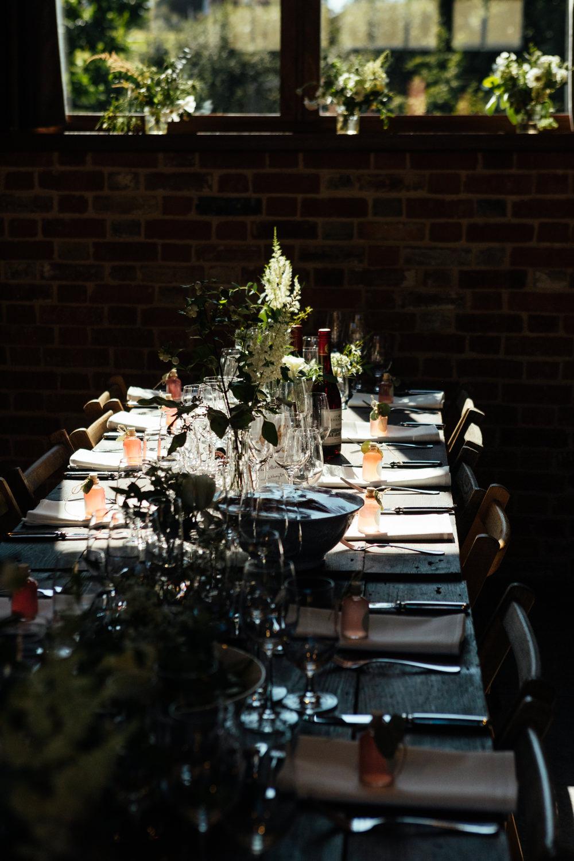 Wooden Rustic Tables Greenery Foliage Decor Oak Barn Wedding Matilda Delves Photography