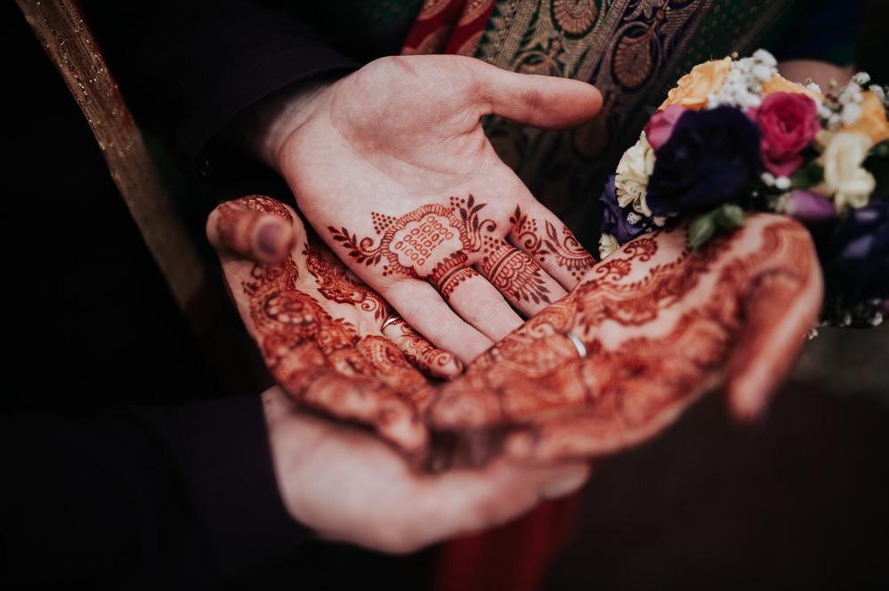 Henna Bride Bridal Groom Swancar Farm Country House Wedding Maree Frances Photography