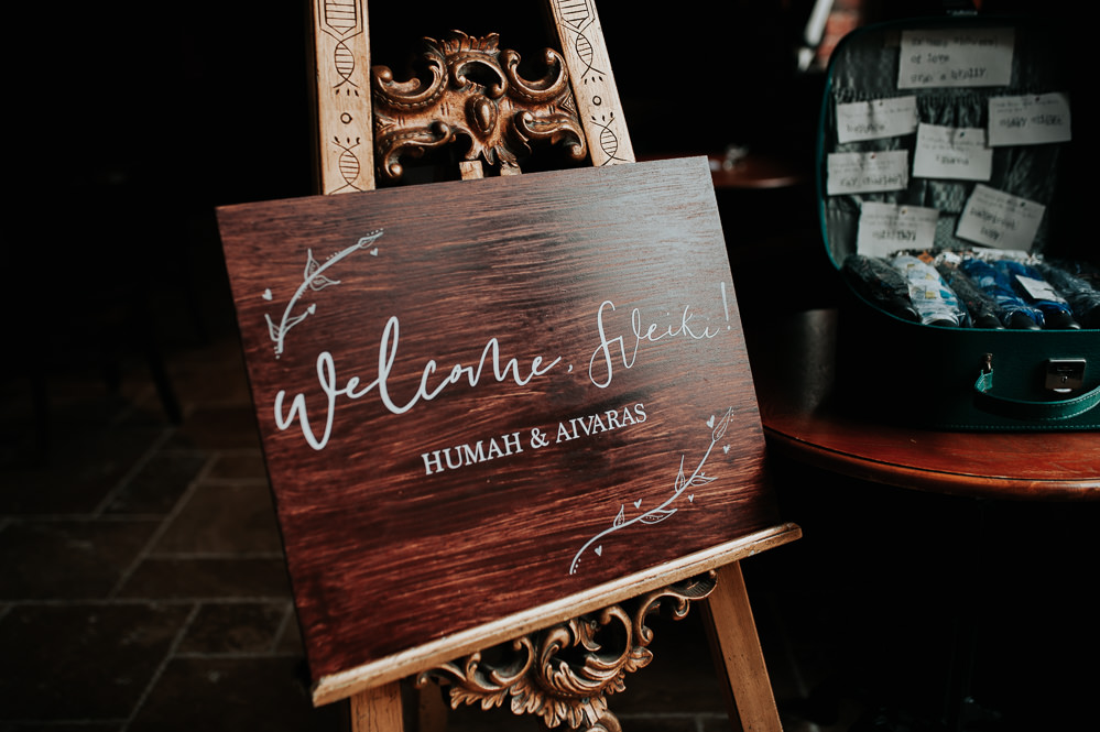 Welcome Calligraphy Sign Signs Signage Swancar Farm Country House Wedding Maree Frances Photography