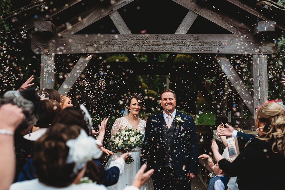 Confetti Throw Whinstone View Wedding Emma Adamson Photography