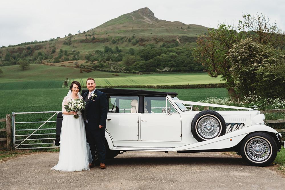 Car Transport Classic Vintage Whinstone View Wedding Emma Adamson Photography