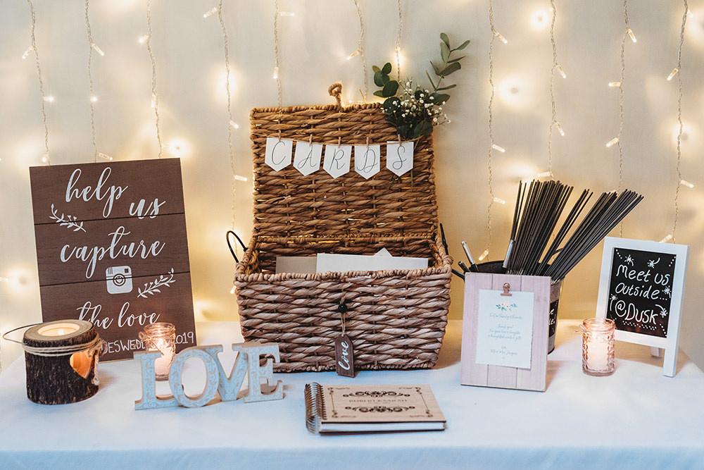 Card Basket Hamper Whinstone View Wedding Emma Adamson Photography