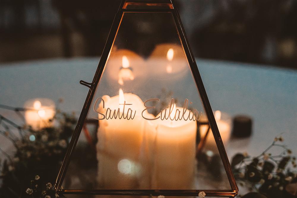 Terrarium Candles Centrepiece Table Whinstone View Wedding Emma Adamson Photography