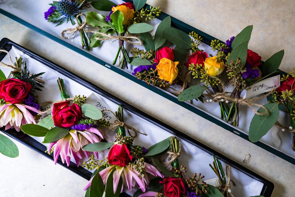 Buttonhole Flowers Anstey Hall Wedding Jonny Barratt Photography