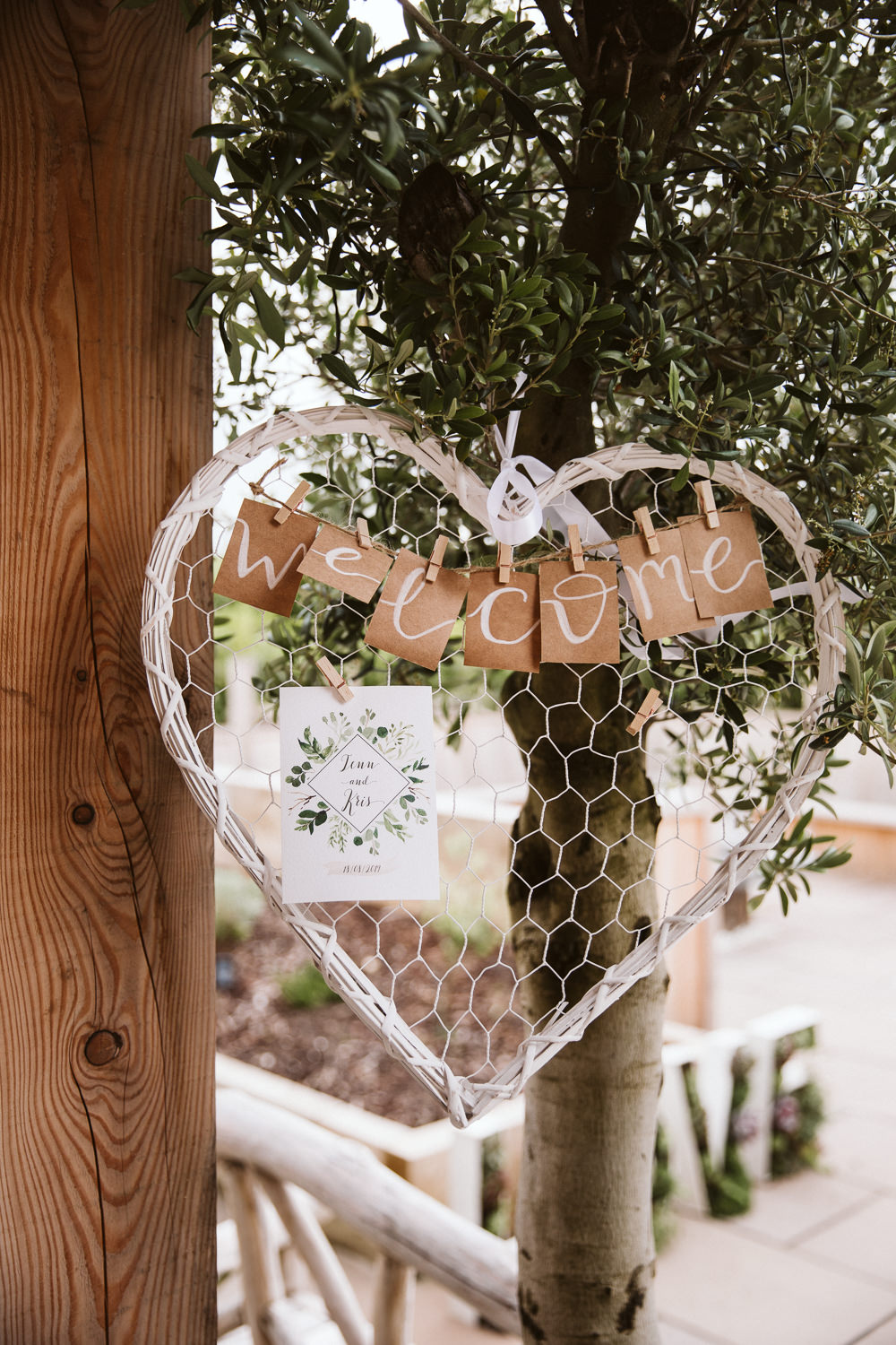 Sign Signs Signage Welcome Eden Barn Wedding Margarita Hope Photography