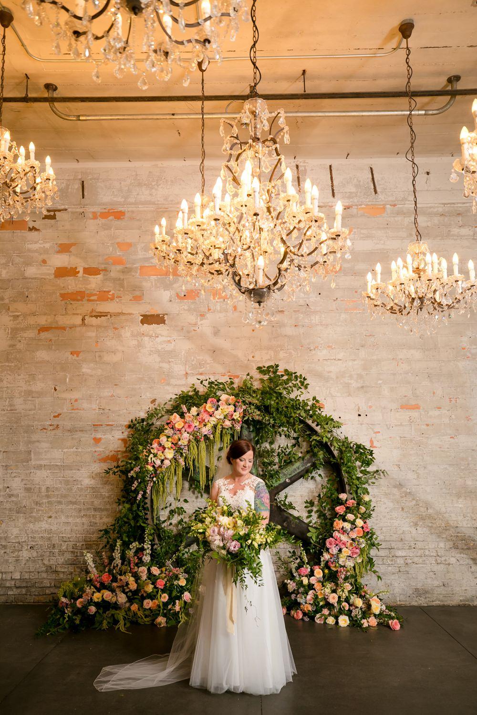 Dress Gown Bride Bridal Straps Lace Veil Floral Minneapolis Wedding Jeannine Marie Photography