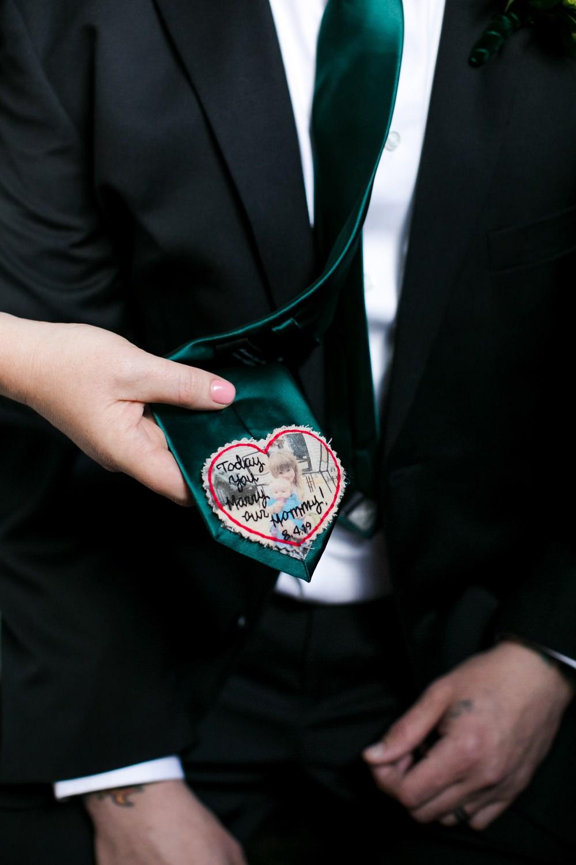 Personalised Tie Groom Floral Minneapolis Wedding Jeannine Marie Photography