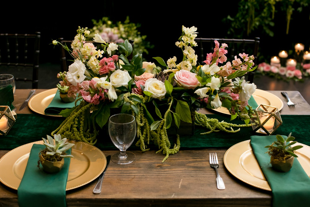 Table Centrepiece Flowers Pink Oversized Large Peony Peonies Rose Foliage Greenery Floral Minneapolis Wedding Jeannine Marie Photography