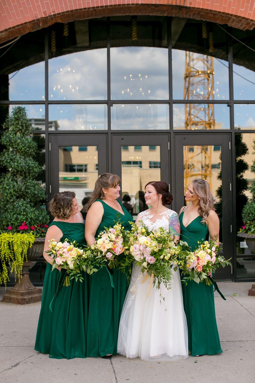 Bridesmaids Bridesmaid Dress Dresses Green Floral Minneapolis Wedding Jeannine Marie Photography