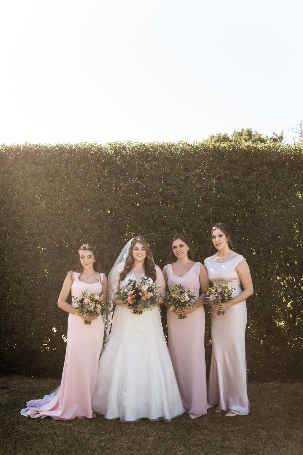 Bridesmaids Bridesmaid Dress Dresses Pink Haughley Park Barn Wedding Him and Her Wedding Photography