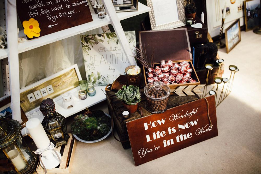 Decor Signs Sign Signage Longton Wood Wedding Alex Tenters Photography