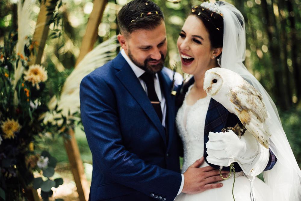 Owl Longton Wood Wedding Alex Tenters Photography
