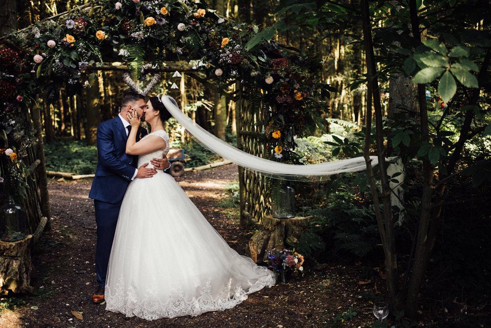 Flower Arch Entrance Backdrop Longton Wood Wedding Alex Tenters Photography