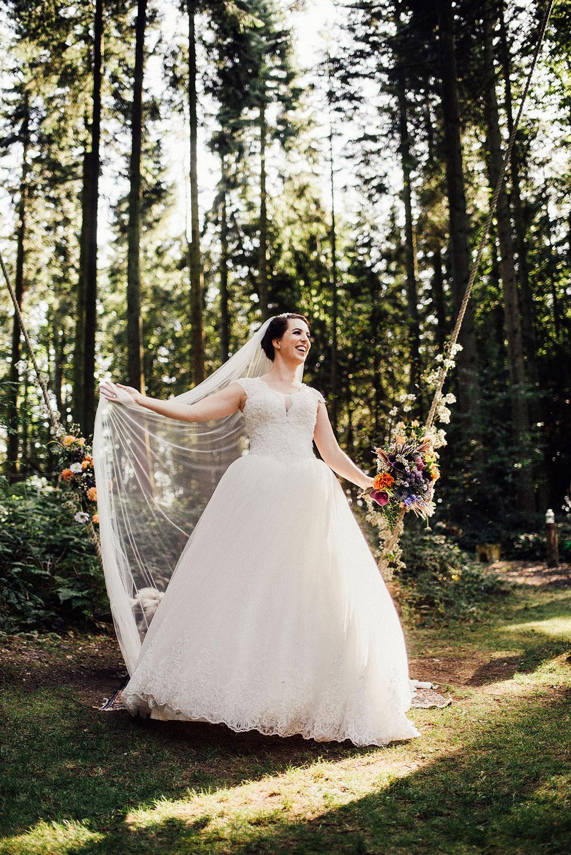 Dress Gown Bride Bridal Princess Lace Veil Longton Wood Wedding Alex Tenters Photography