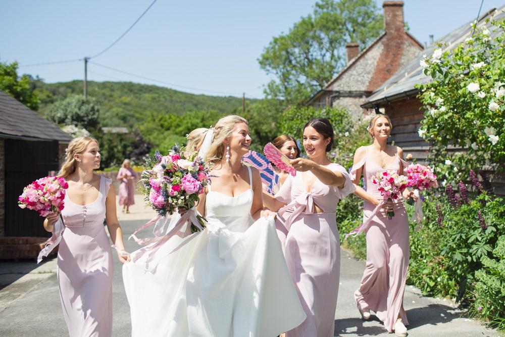 Bridesmaids Bridesmaid Dress Dresses Pink Bride Bridal Dress Gown Jesus Piero Straps Rustic Tipi Wedding Cotton Candy Weddings