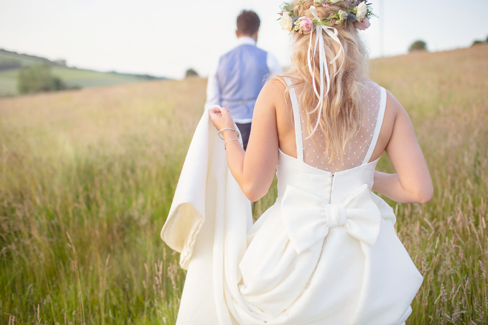 Bride Bridal Dress Gown Jesus Peiro Straps Bow Rustic Tipi Wedding Cotton Candy Weddings