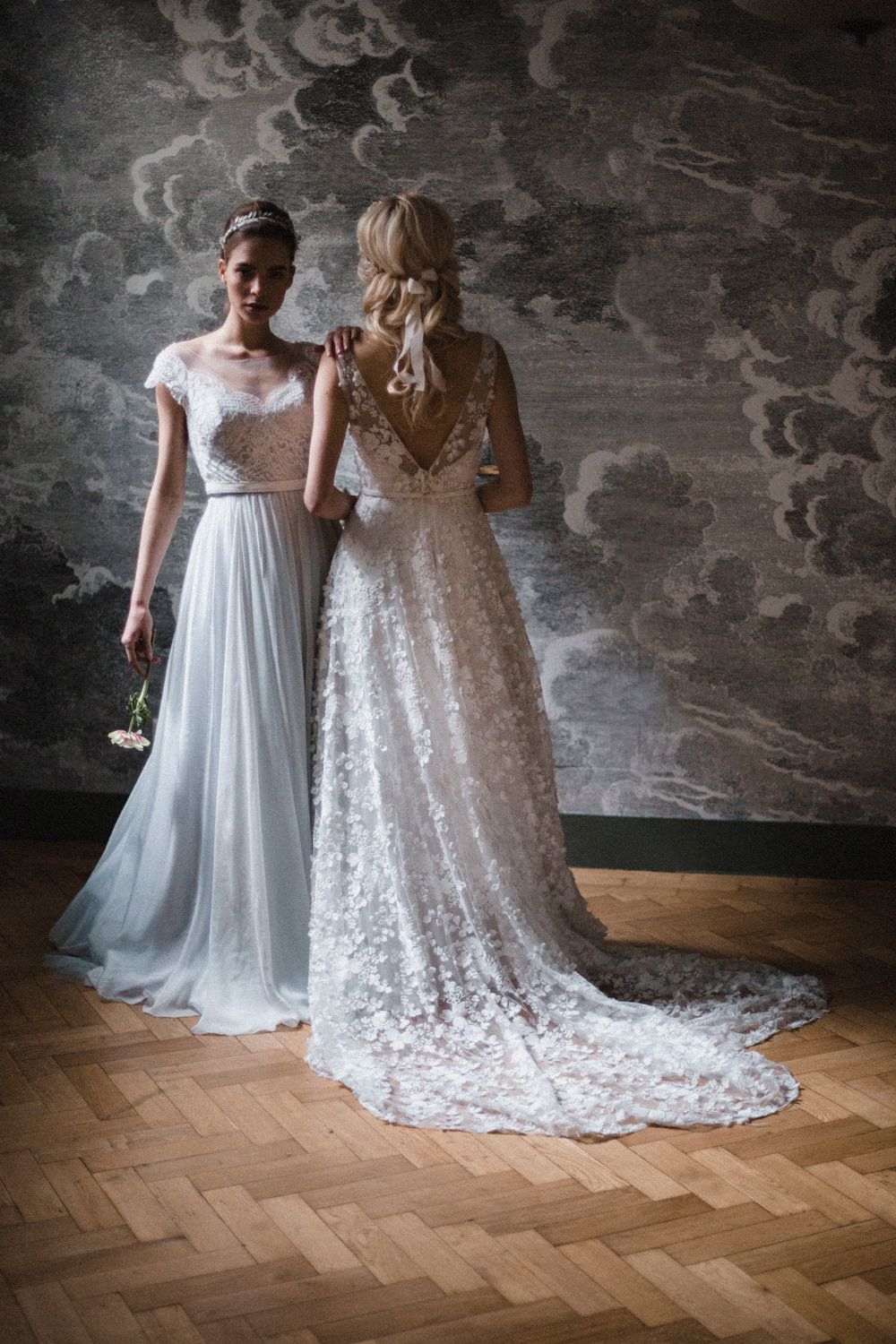 Bride Bridal Dress Gown Naomi Neoh Tulle Train Whimsical Elegant Wedding Ideas Mandorla London