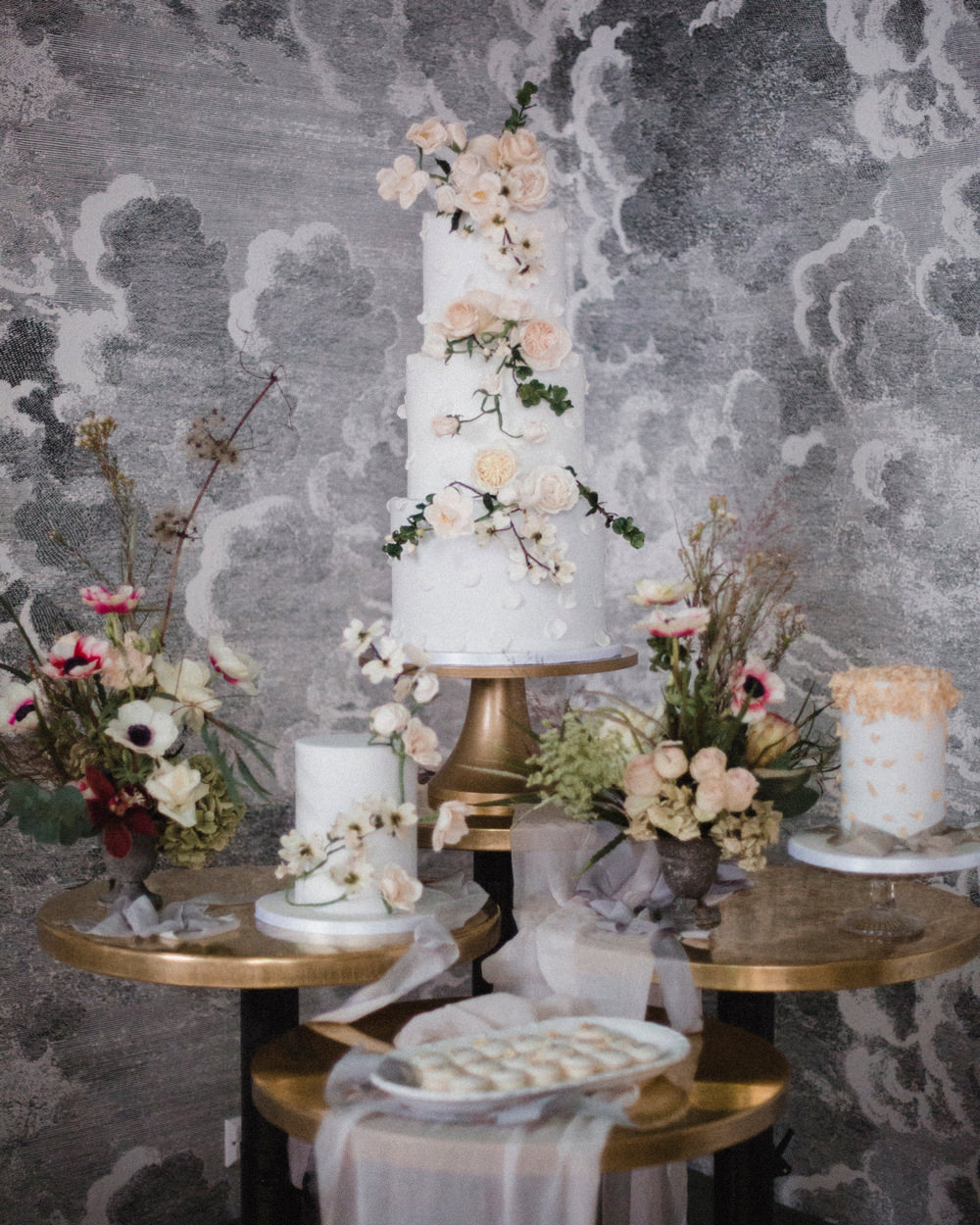 Cake Table Dessert Floral Spring Pretty Pastel Whimsical Elegant Wedding Ideas Mandorla London