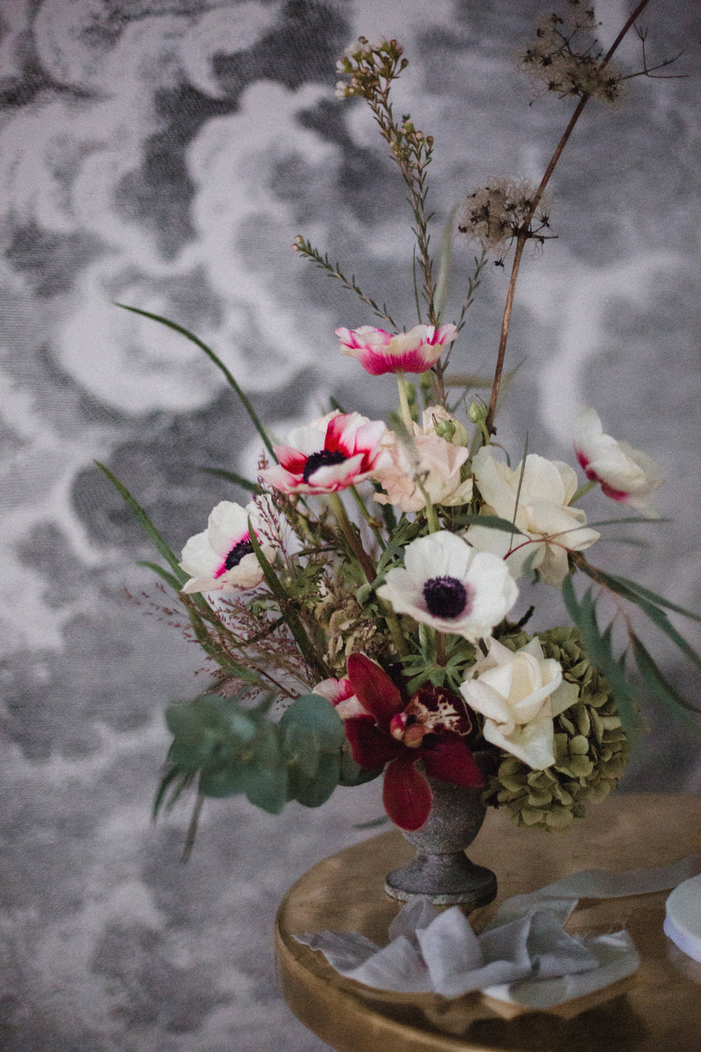 Flower Arrangement Anemone Whimsical Elegant Wedding Ideas Mandorla London
