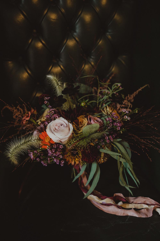 Bouquet Flowers Bride Bridal Rose Cosmos Wiltshire Barn Wedding Photography34