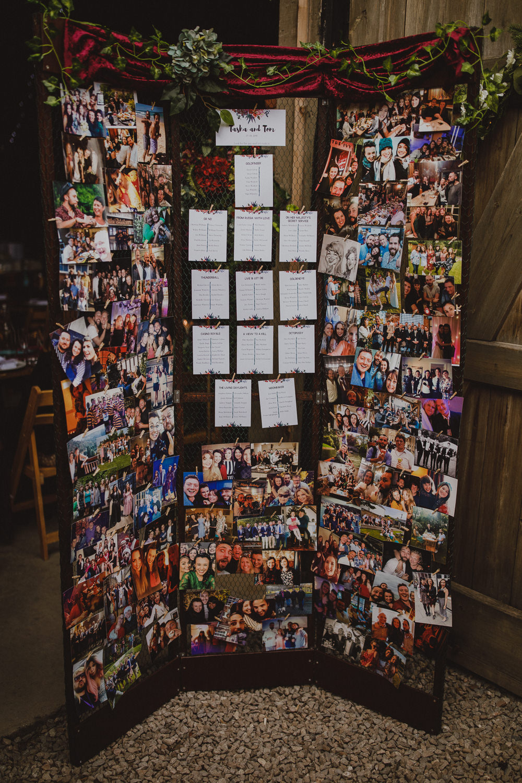 Table Chart Seating Plan Photos Wiltshire Barn Wedding Photography34