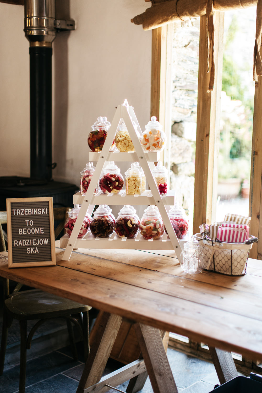 Sweetie Table Sweet Bar Station Wonwood Barton Wedding Emma Barrow Photography