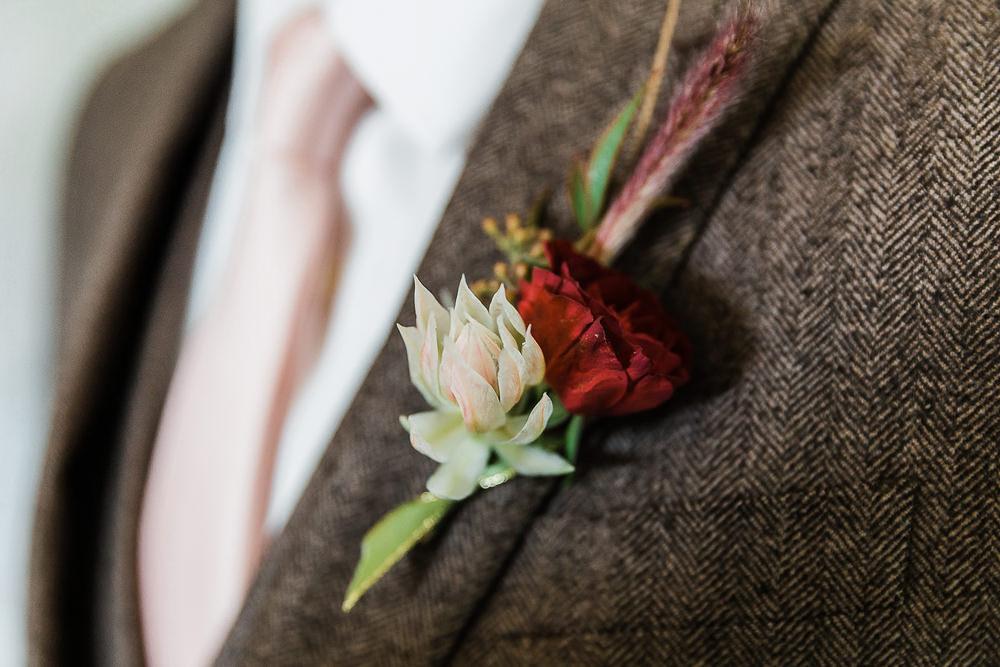 Groom Buttonhole Flowers California Ranch Wedding WildflowerPhotoCo