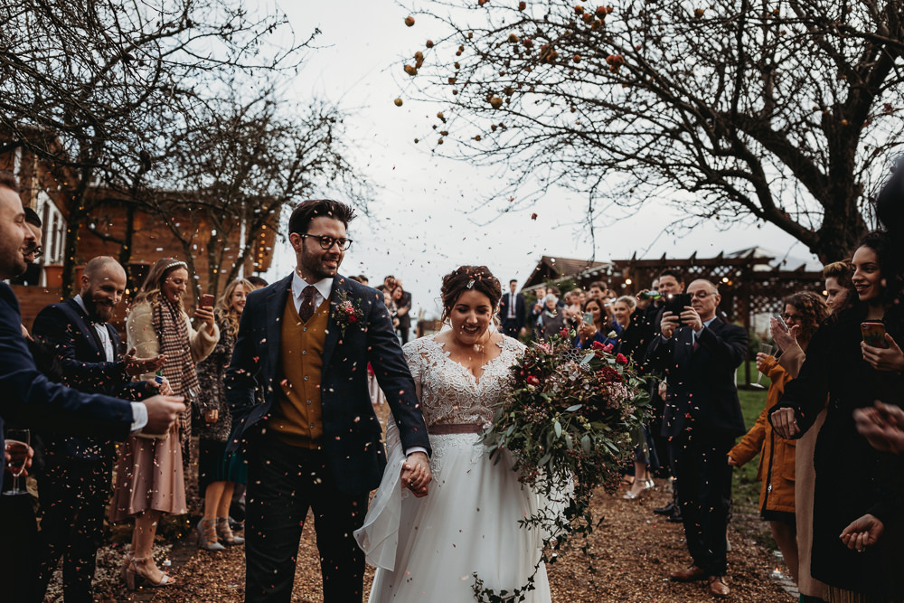 Confetti Throw Christmas Marquee Wedding Thyme Lane Photography