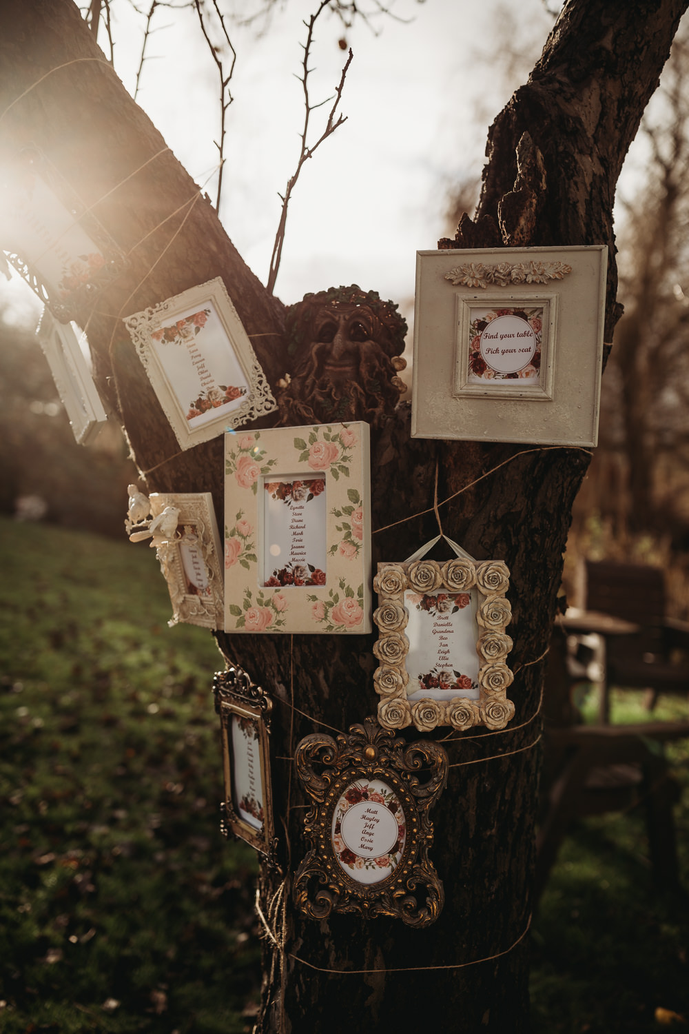 Table Plan Seating Chart Frames Tree Christmas Marquee Wedding Thyme Lane Photography