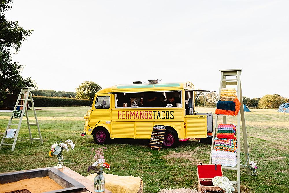 Food Truck Van DIY Tipi Wedding Fiona Kelly Photography