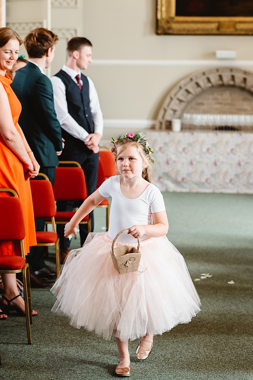 Flower Girl Tutu DIY Tipi Wedding Fiona Kelly Photography