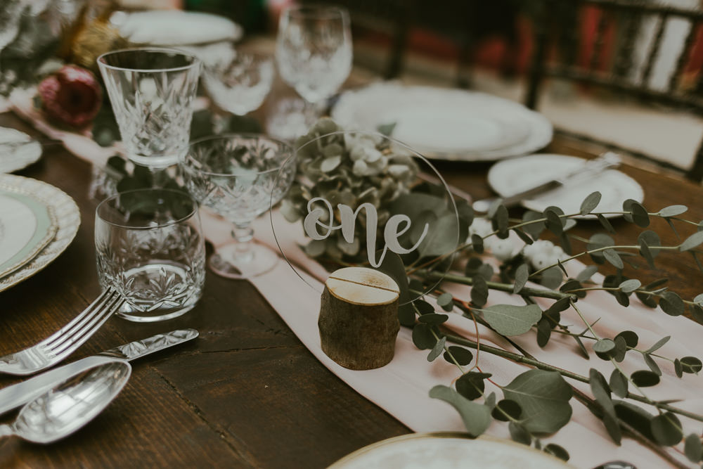 Clear Perspex Acrylic Table Number Dreamy Woodland Wedding Ideas Jasmine Andrews Photography