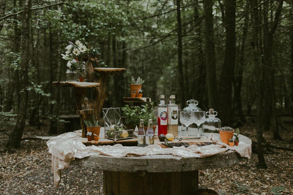 Bar Drinks Dreamy Woodland Wedding Ideas Jasmine Andrews Photography