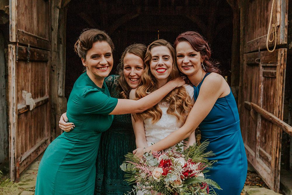 Bridesmaids Bridesmaid Dress Dresses Simple Autumn Wedding Maddie Farris Photography