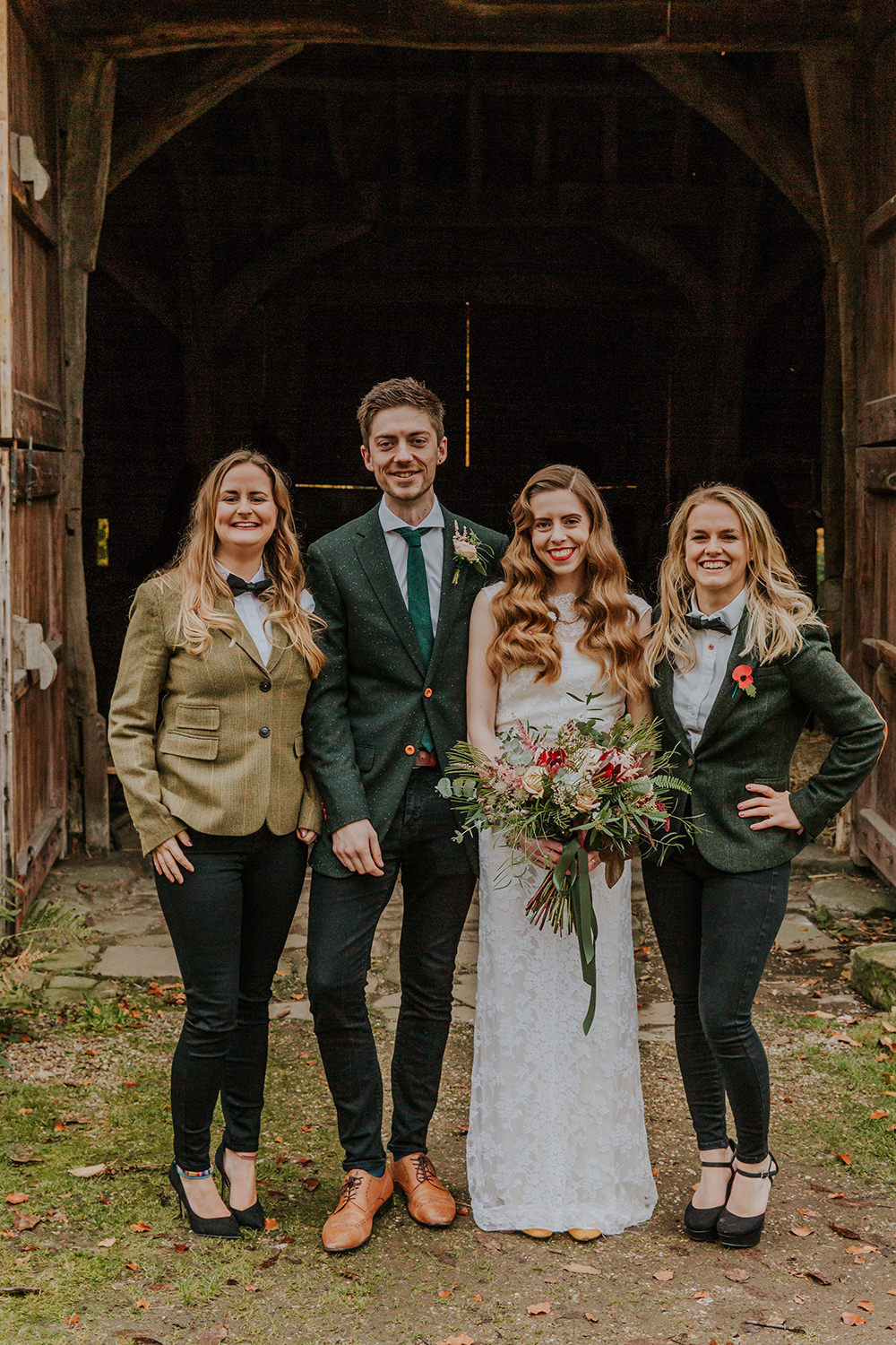 Best Women Jackets Bow Ties Simple Autumn Wedding Maddie Farris Photography