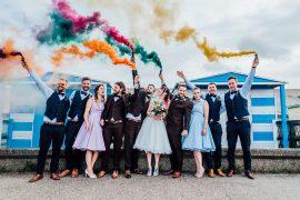 Sparkly Wedding Anna Pumer Photography Smoke Bombs Portrait Photo Photograph