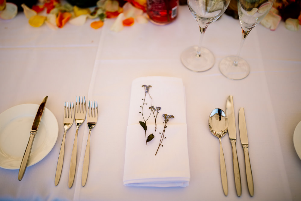 Flower Floral Place Setting Sperry Tent Wedding Hayley Baxter Photography
