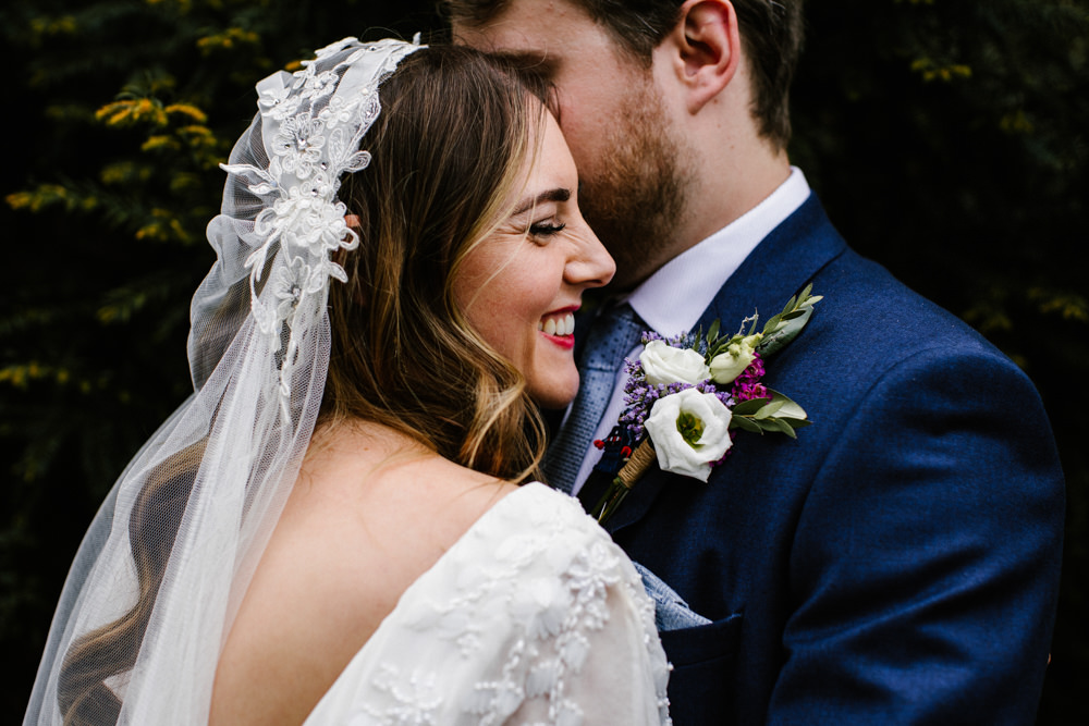 Juliet Cap Veil Titchwell Manor Wedding Honey and The Moon Photography