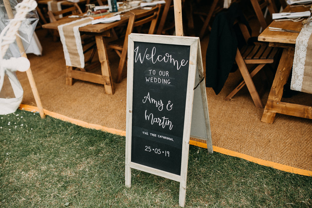 Chalk Board Sign Signs Signage Tree Cathedral Wedding Milton Keynes Miracle Moments