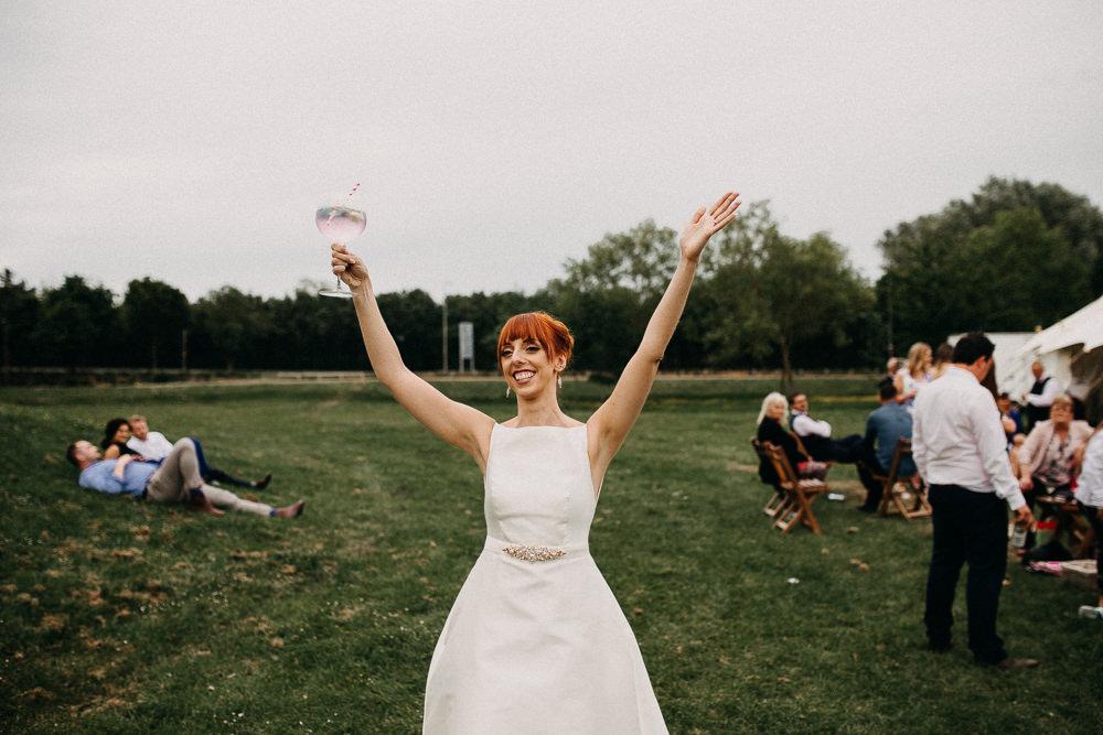 Dress Gown Bride Bridal Mikado Silk A-Line Rosa Clara Parallel Tree Cathedral Wedding Milton Keynes Miracle Moments