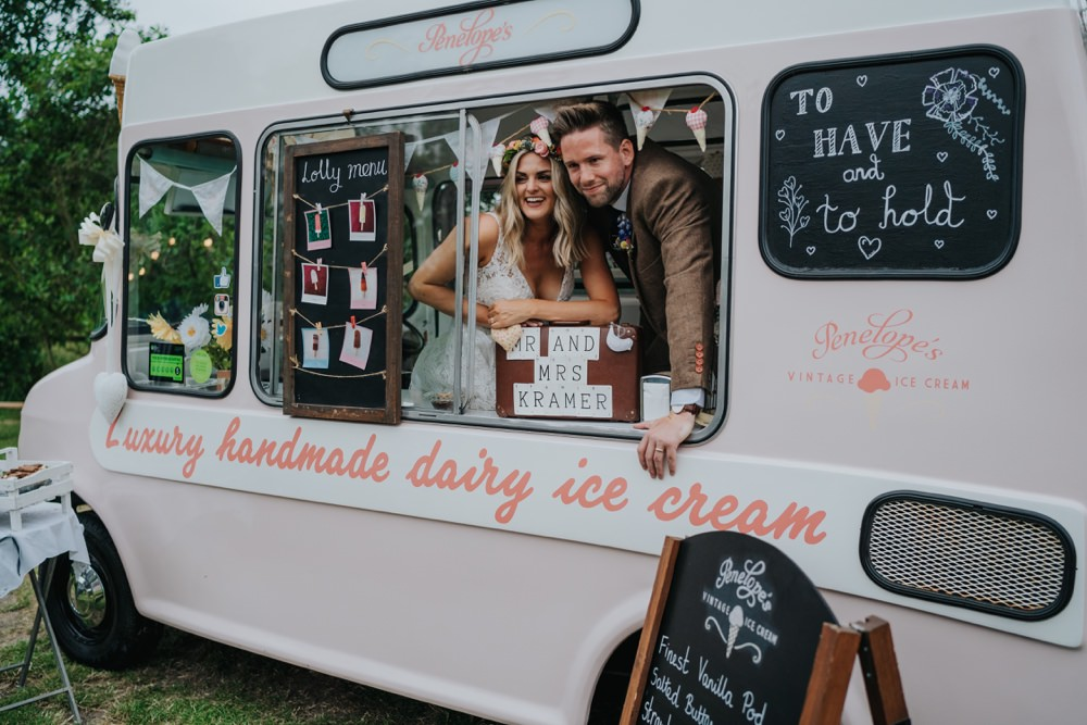 Ice Cream Van Truck Animal Lovers Wedding Bloom Weddings