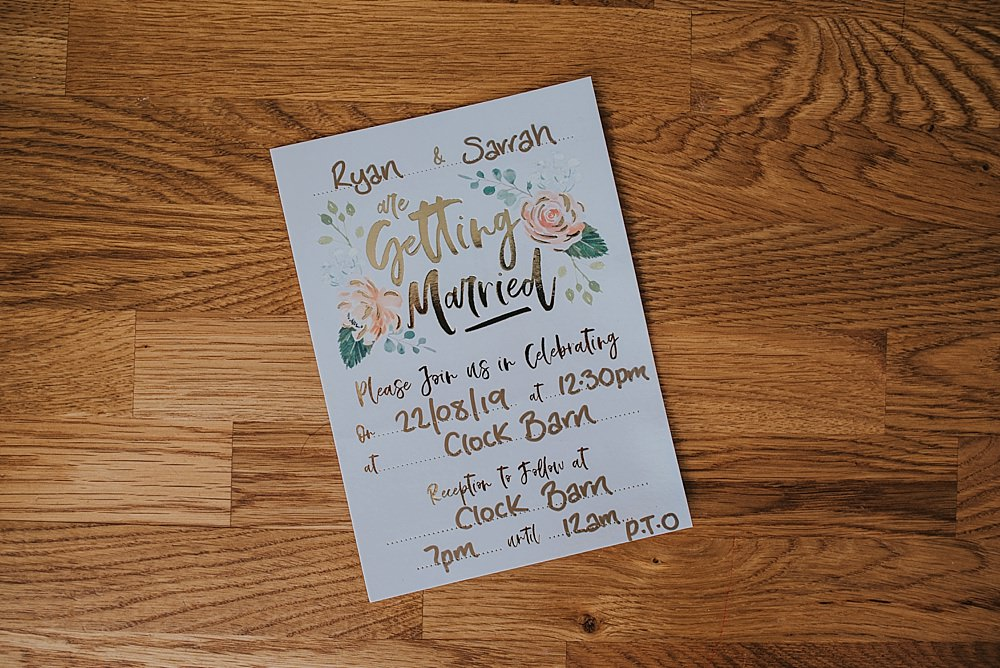 Stationery Invite Invitation Floral Gold Boho Rustic Wedding This and That Photography