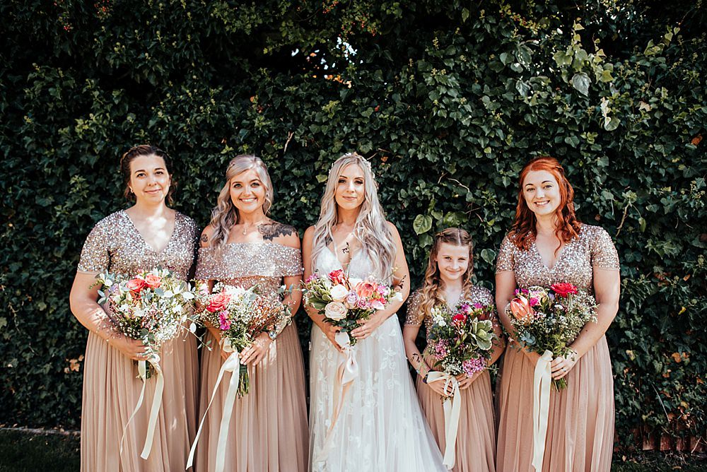 Bridesmaids Bridesmaid Dress Dresses Sequins Boho Rustic Wedding This and That Photography