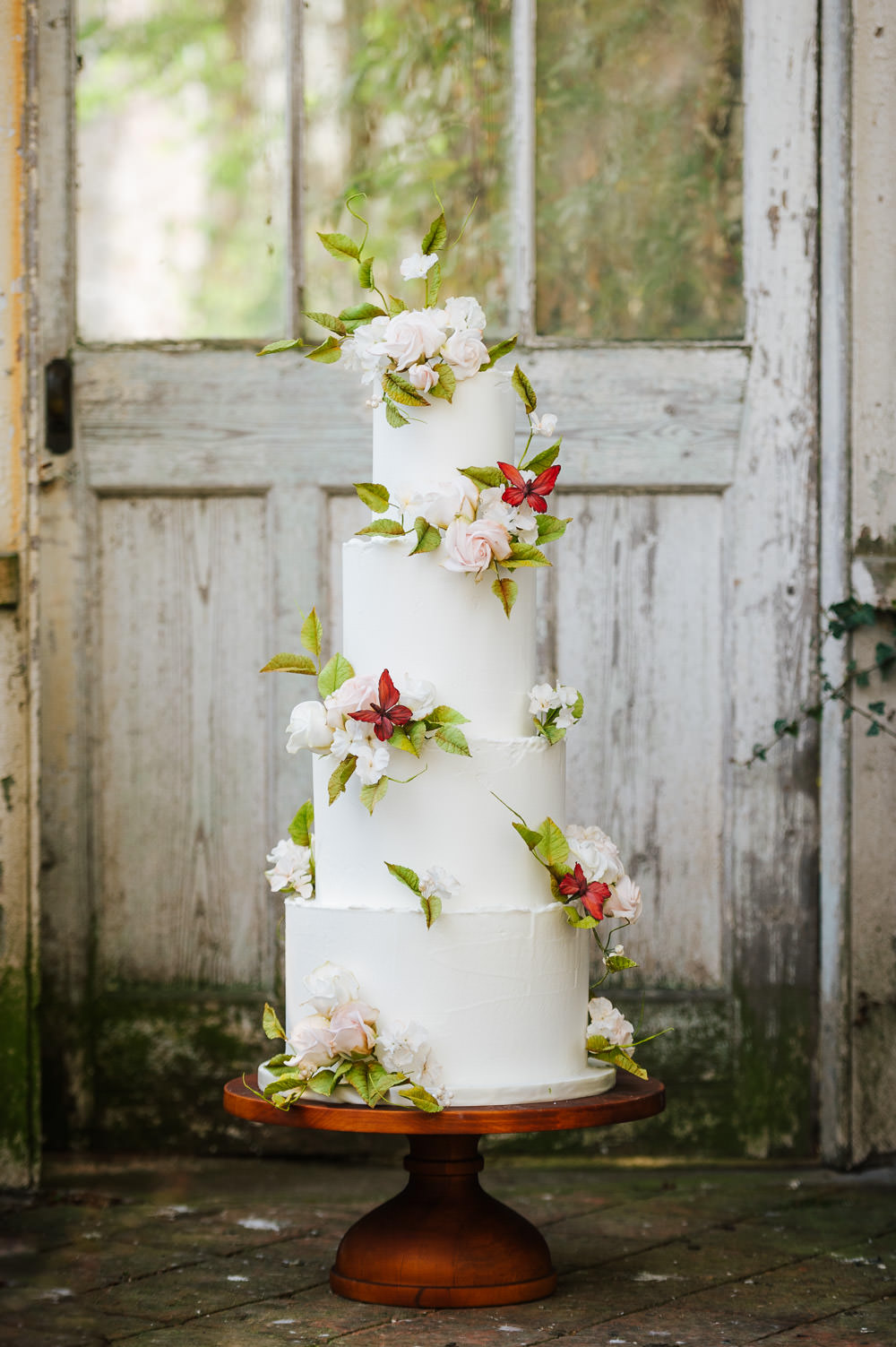 Iced Cake Floral Flowers Cherry Blossom Wedding Ideas Sugarbird Photography